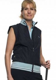 BackTee Ladies Wind Gilet Navy, S,M,L