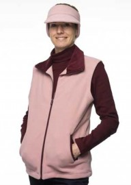 Sleeveless Fleece Gilet, Cord Collar & Trim