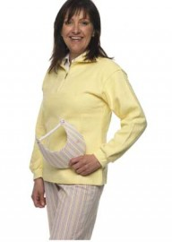 Zipped Cotton sweatshirt - lemon