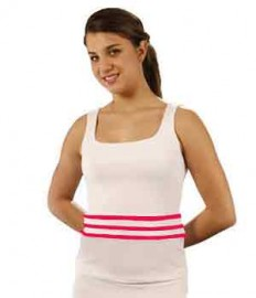 3 striped tennis tee white/hot pink, sizes M