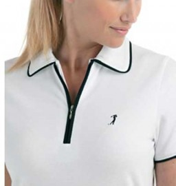 Valerie Herman Polo Shirt with Navy or Black trim