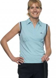 BackTee Sleeveless Tactel Polo Shirt Aqua