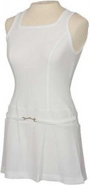 Rosie Tennis Dress, White, Size M