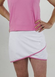 Asymmetric Tennis Skirt - White/Bubblegum sizes M,L