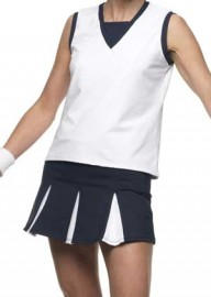 Ana Tennis skort Navy with White pleats, Sizes S, L