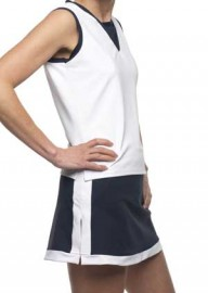 laura Tennis Skirt Navy with Contrast White Band sizes S, XL,XXL