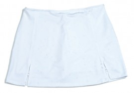 Susanna Tennis Skirt - White with matching undershorts, sizes M-L